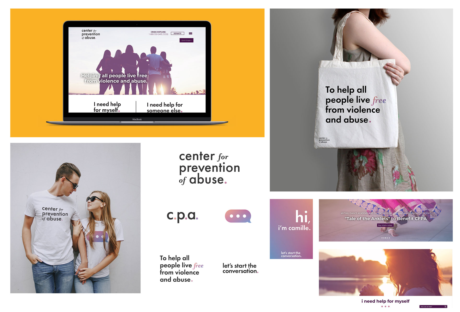 center for prevention of abuse coordinated brand image done by mcdaniels marketing