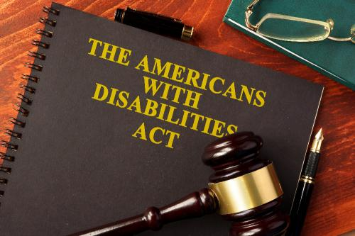 americans with disability act document with a gavel sitting on top