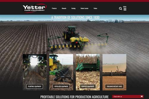 yetter website ueser experience design done by mcdaniels marketing
