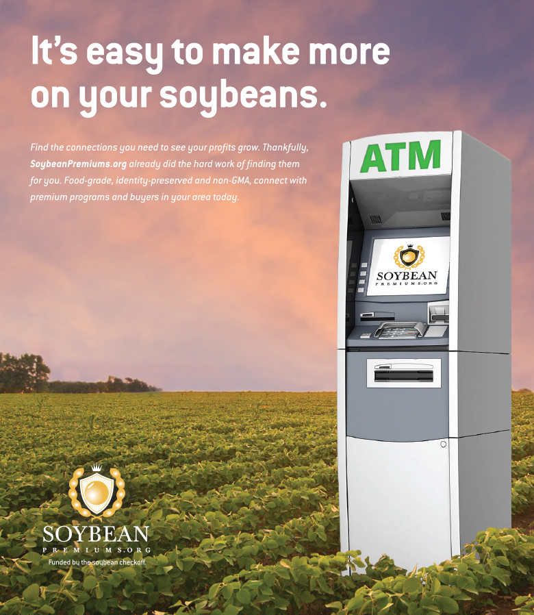 agriculture marketing done by mcdaniels marketing for client soybean premiums