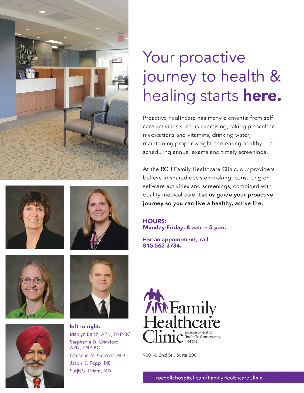 rochelle hospital healthcare marketing done by mcdaniels marketing