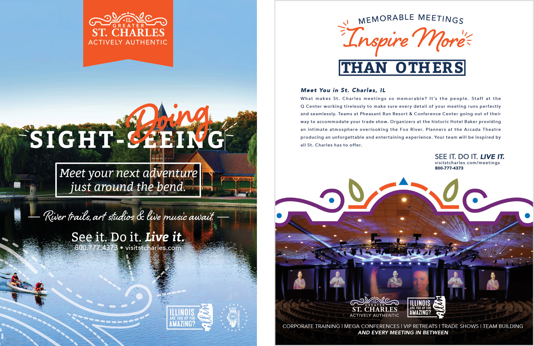 st charles il visitor guide done for st charles cvb done by mcdaniels marketing